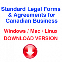 Standard Legal Forms & Agreements for Canadian Business (download version)